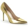 CLASSIQUE-20 Gold Metallic Faux Leather